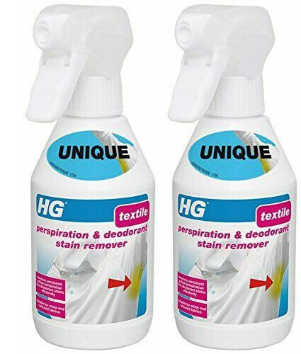 HG Textile Perspiration & Deodorant Stain Remover 250ml Pack of 2