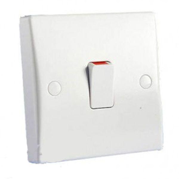 Schneider Electric GET Ultimate 20A Double Pole Switch with Flex ...