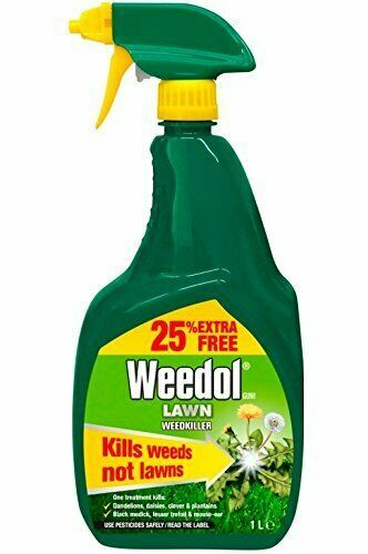 Weedol  Lawn Weedkiller  1litre trigger 25% extra free